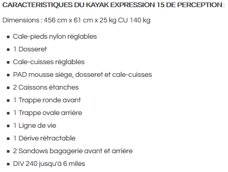 Caracteristique expression15